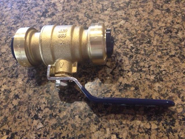 Solder-less ball valve
